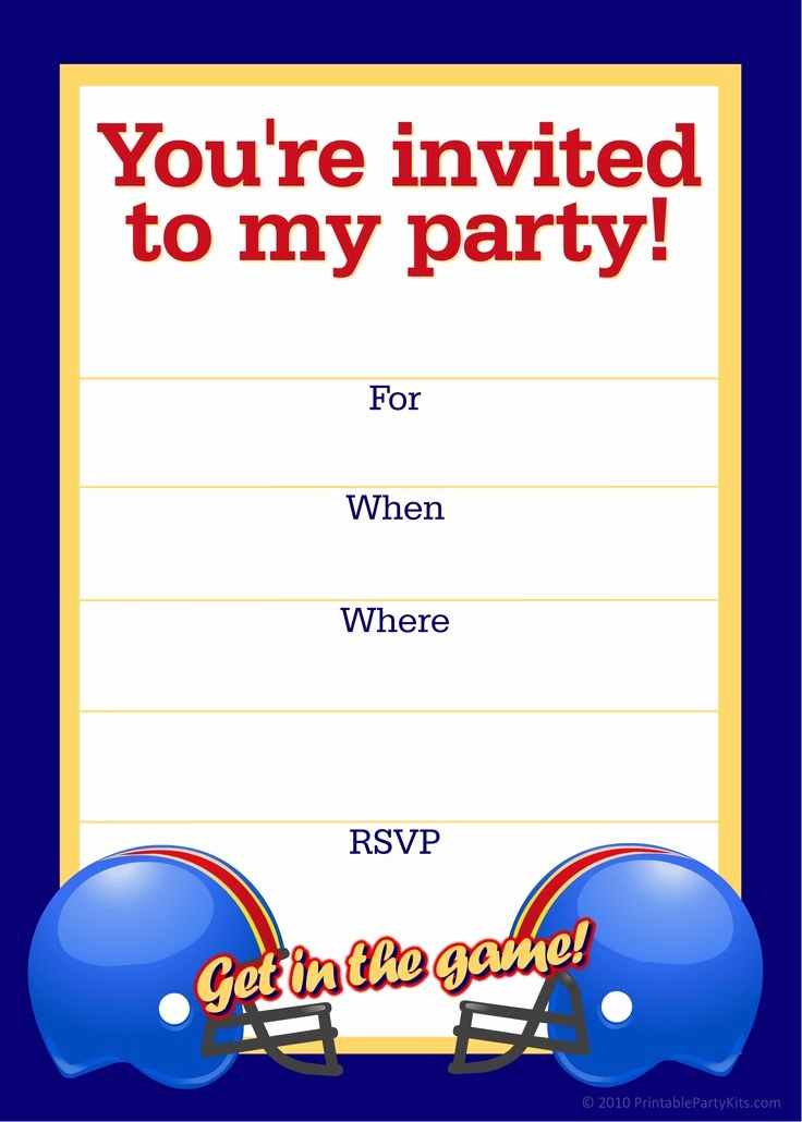 Free Templates for Birthday Invitations Unique Free Printable Sports Birthday Party Invitations Templates