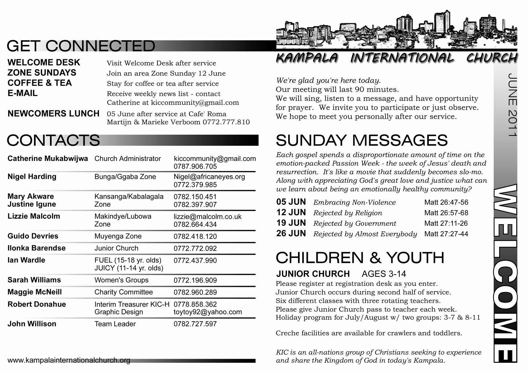 Free Templates for Church Bulletins Beautiful Mzungu Memoirs Blog Archive Our New Church Home