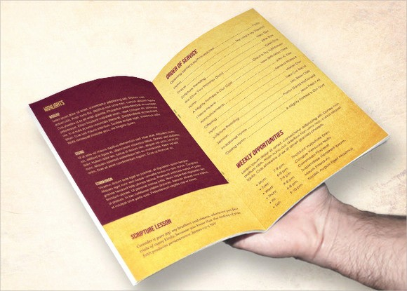 Free Templates for Church Bulletins Best Of 10 Amazing Sample Church Bulletin Templates to Download