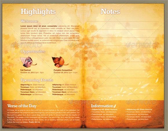 Free Templates for Church Bulletins Elegant 10 Amazing Sample Church Bulletin Templates to Download