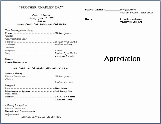 Free Templates for Church Bulletins Elegant Church Bulletin Templates