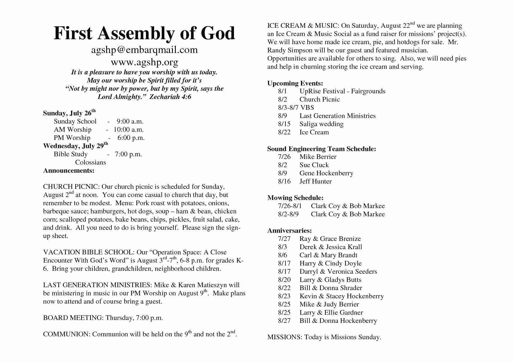 Free Templates for Church Bulletins Fresh Luxury Free Church Bulletin Templates Microsoft Publisher
