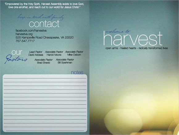 Free Templates for Church Bulletins Inspirational 10 Amazing Sample Church Bulletin Templates to Download