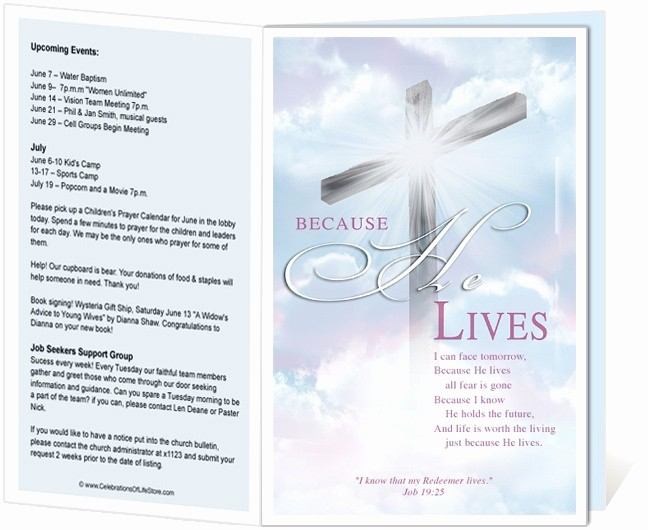 Free Templates for Church Bulletins Inspirational 14 Best Images About Printable Church Bulletins On