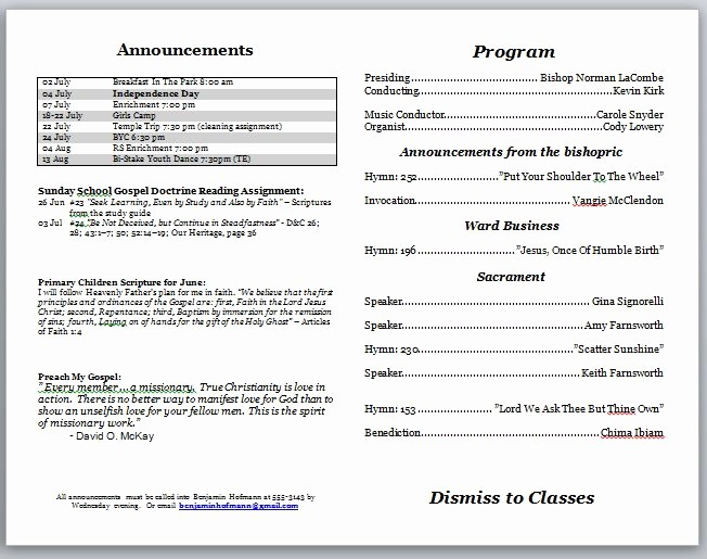 Free Templates for Church Bulletins Inspirational Church Bulletin Templates