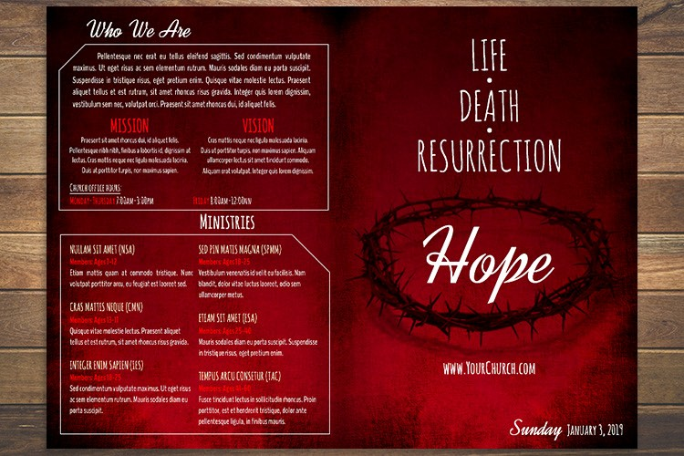 Free Templates for Church Bulletins Inspirational Free Church Bulletin Templates 8 Professionally Designed