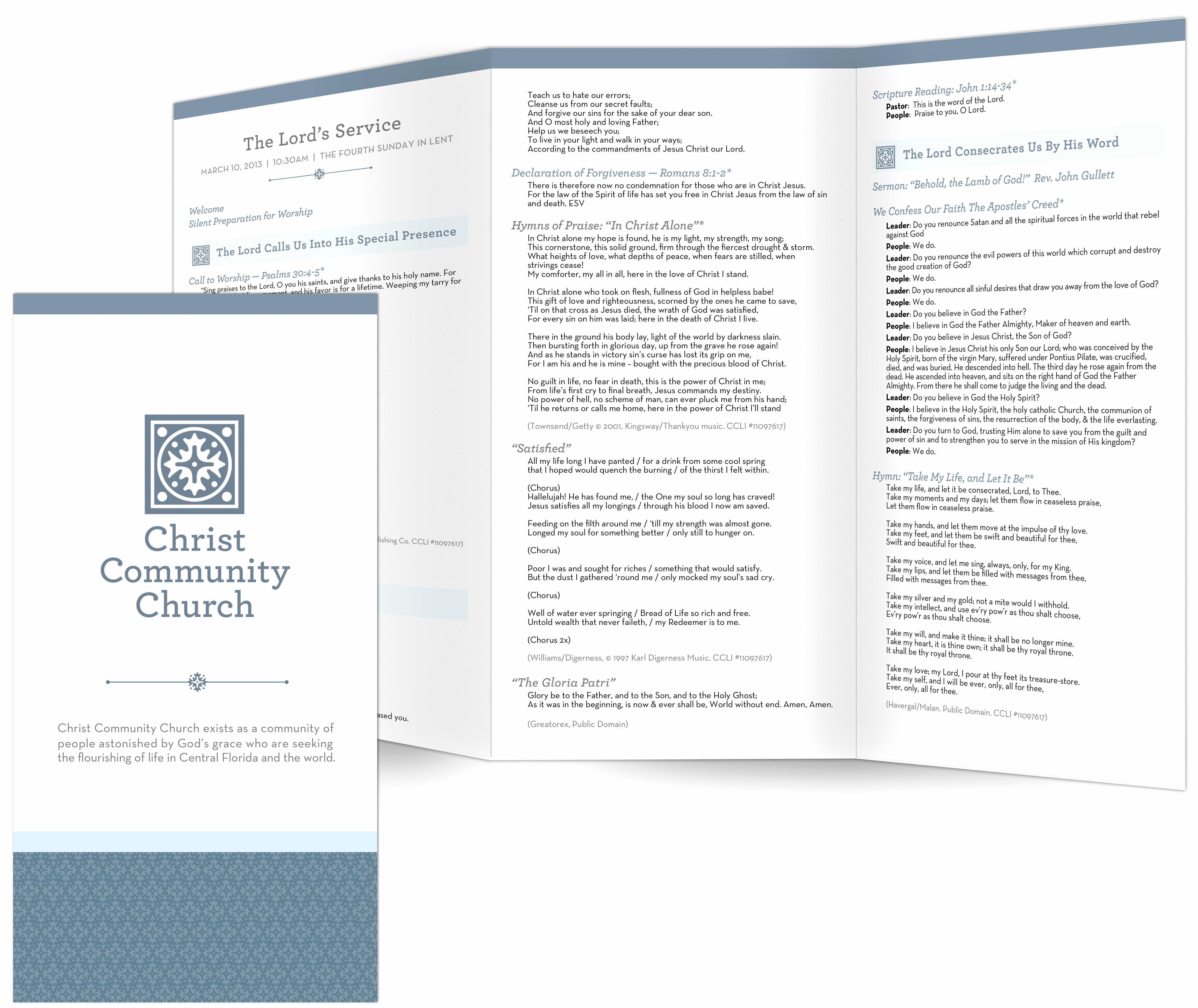 church bulletin templates