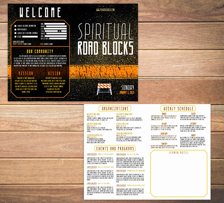 Free Templates for Church Bulletins Luxury Free Church Bulletin Templates 8 Professionally Designed