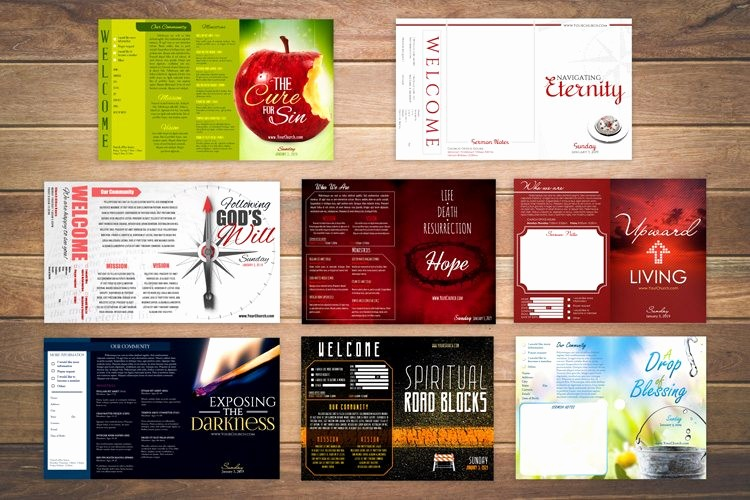 Free Templates for Church Bulletins New 8 Free Church Bulletin Templates