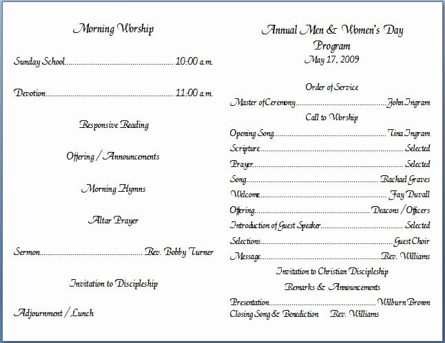 Free Templates for Church Bulletins New Church Bulletin Templates