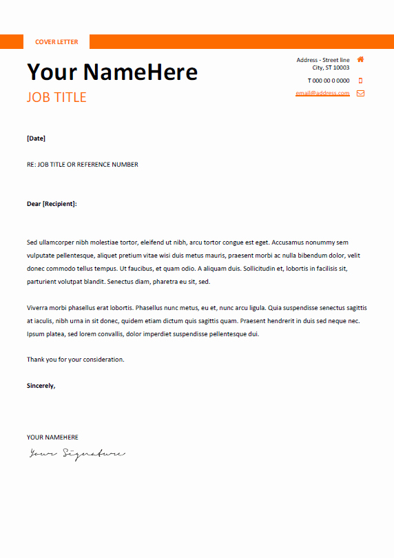 Free Templates for Cover Letters Luxury Montjuic Clean and Simple Resume Template
