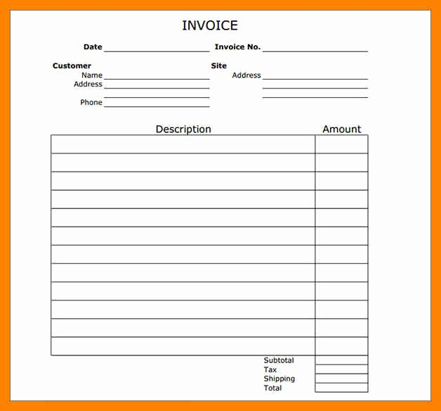 Free Templates for Invoices Printable Best Of 8 Free Printable Invoice Template Microsoft Word
