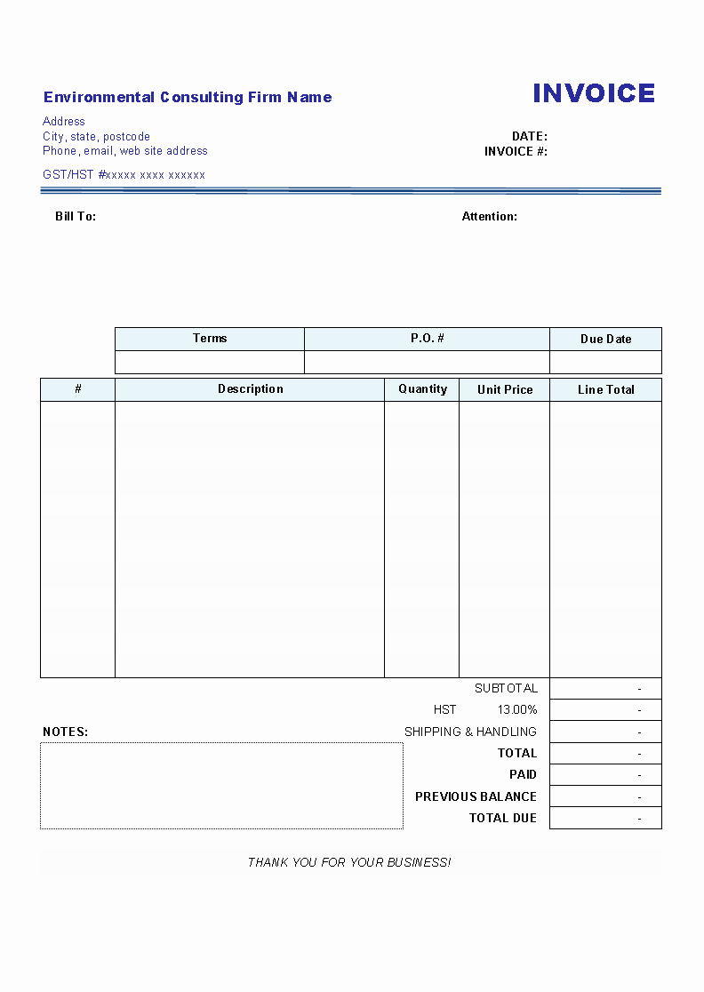 Free Templates for Invoices Printable Lovely Blank Invoices Invoice Design Inspiration