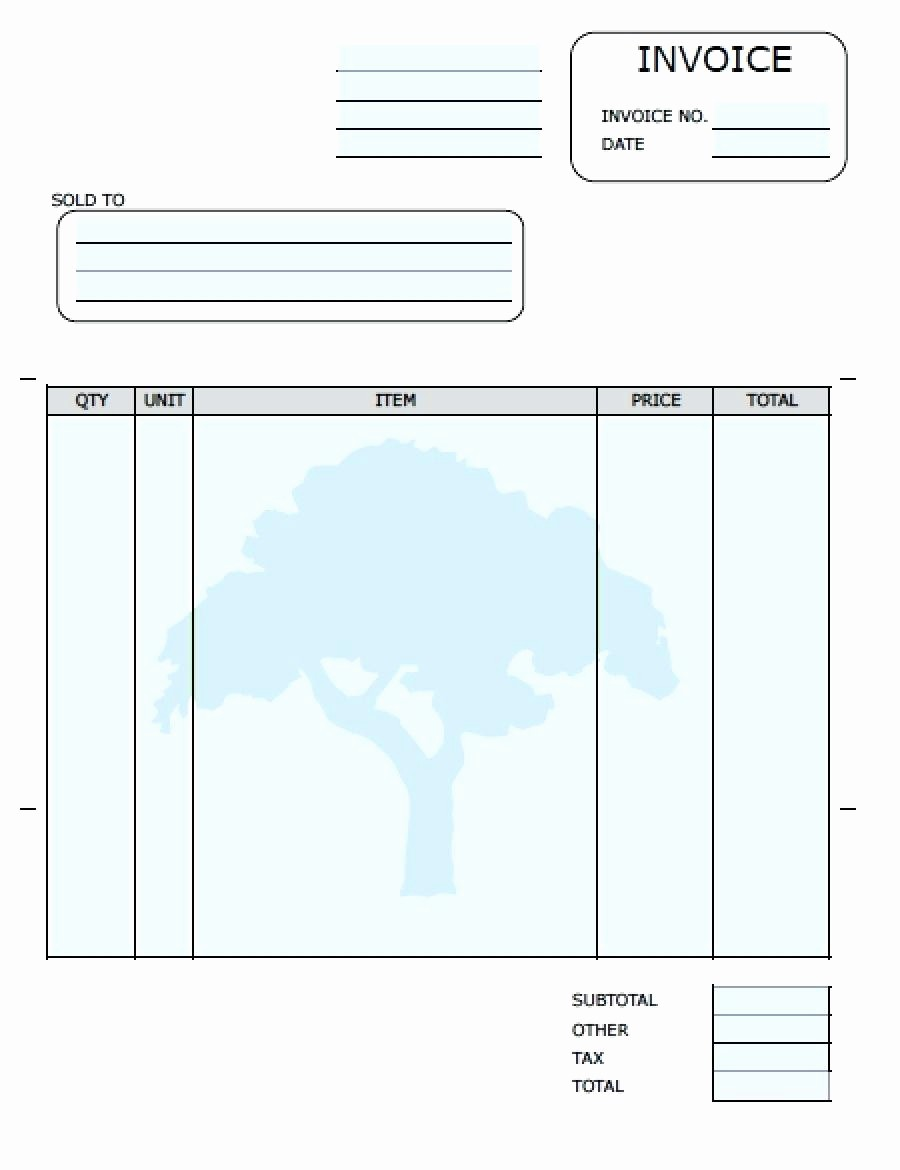 Free Templates for Invoices Printable Lovely Template Blank Invoice Template Printable