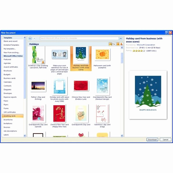 Free Templates for Microsoft Word Beautiful where to Find Free Microsoft Fice Greeting Card Templates