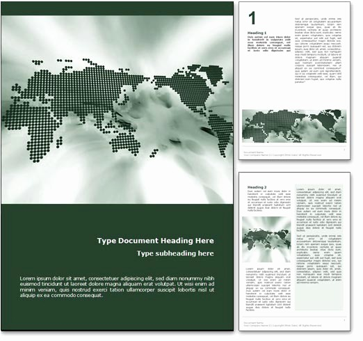 Free Templates for Microsoft Word Lovely Royalty Free World Map Microsoft Word Template In Green