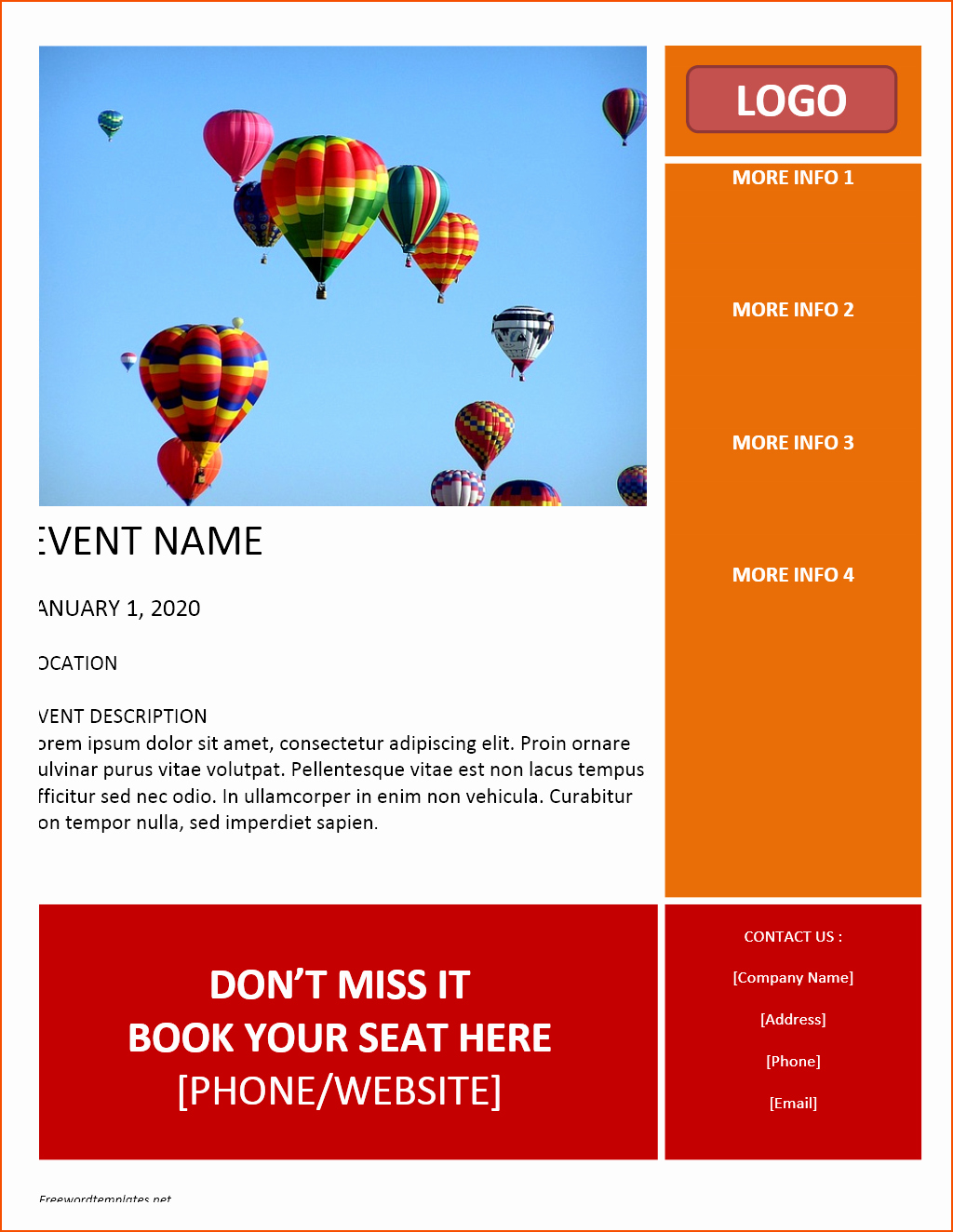 Free Templates for Microsoft Word Luxury 8 Free Flyer Templates for Word Bookletemplate