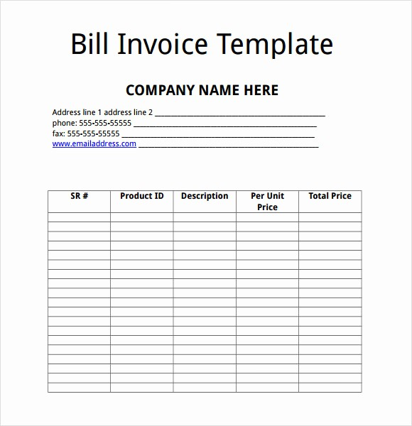 Free Templates for Microsoft Word Luxury 9 Billing Invoice Templates – Free Samples Examples