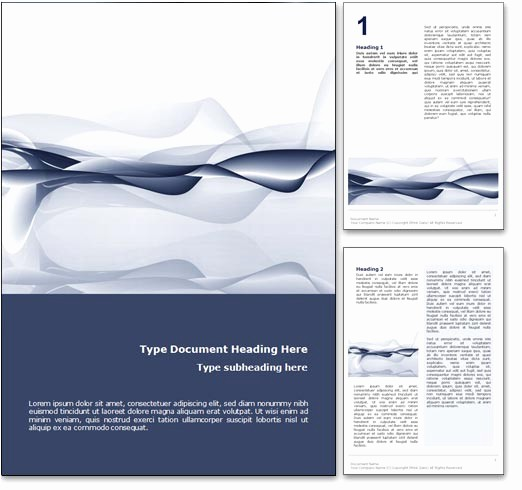 Free Templates for Microsoft Word New Royalty Free Abstract Ocean Microsoft Word Template In Blue