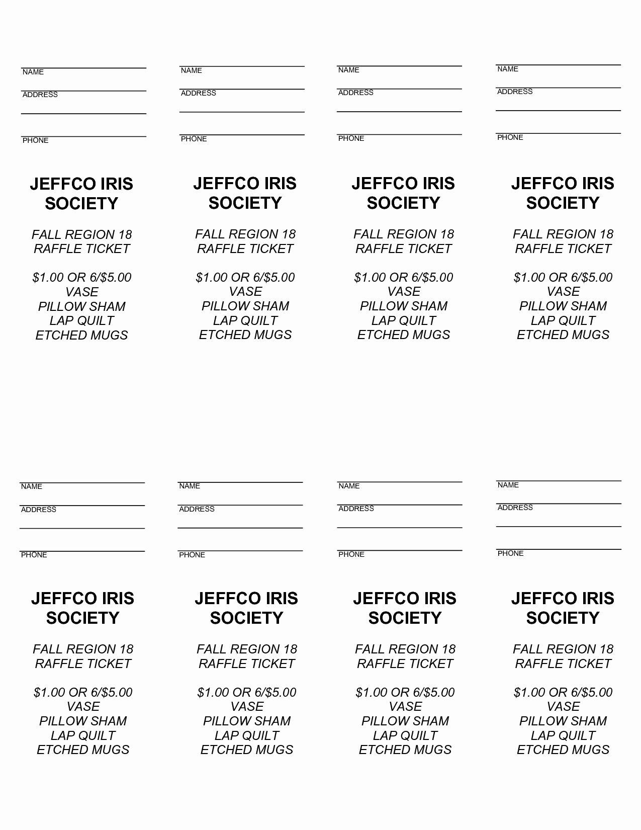Free Ticket Template for Word Best Of 4 Best Of Free Printable Raffle Ticket Templates