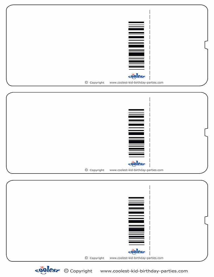 Free Ticket Template for Word Elegant Blank Ticket Template Mughals