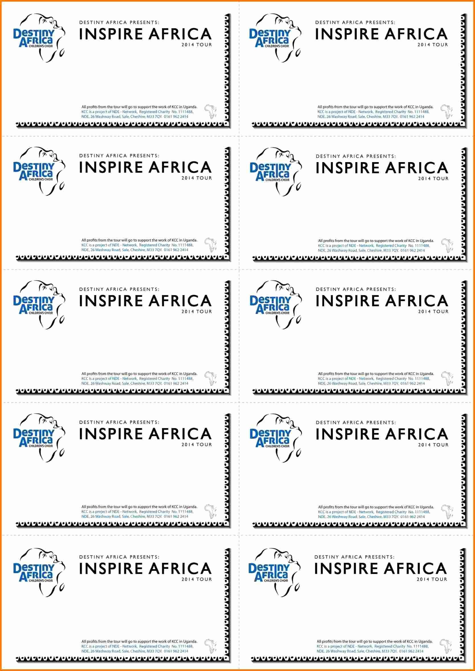 Free Ticket Template for Word Elegant Raffle Ticket Template Free Microsoft Word