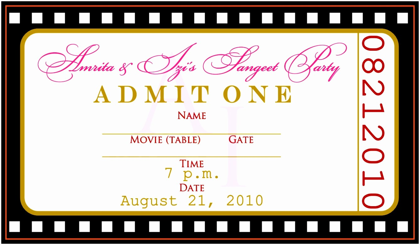 Free Ticket Template for Word Inspirational 12 Concert Ticket Invitation Template Free Uottu