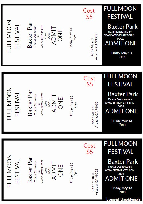 Free Ticket Template for Word Inspirational 36 Printable Movie Ticket Templates Free Psd Pdf Excel