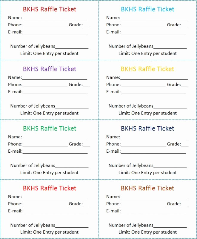 Free Ticket Template for Word Inspirational Raffle Tickets Template