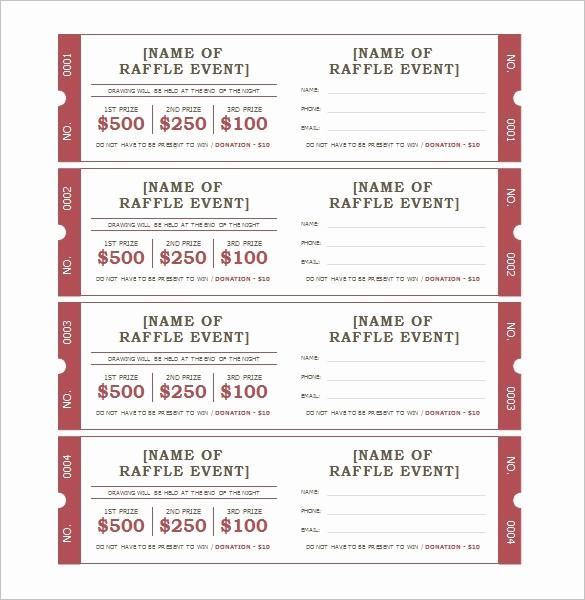 Free Ticket Template for Word Unique 115 Ticket Templates Word Excel Pdf Psd Eps