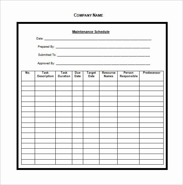 Free Vehicle Maintenance Log Pdf Awesome Vehicle Maintenance Schedule Templates 10 Free Word