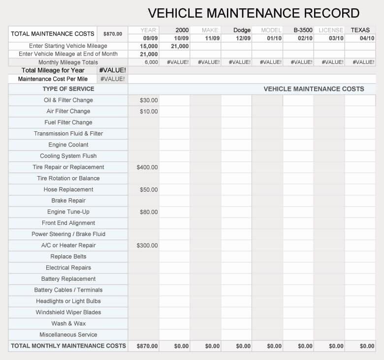 Free Vehicle Maintenance Log Pdf Beautiful Free Vehicle Maintenance Log Service Sheet Templates