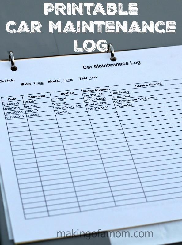 Free Vehicle Maintenance Log Pdf Best Of Diy Car Maintenance Car Maintenance Log