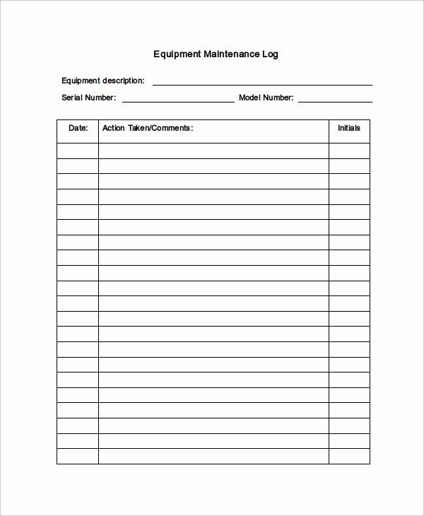Free Vehicle Maintenance Log Pdf Best Of Maintenance Log Template 11 Free Word Excel Pdf