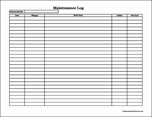 Free Vehicle Maintenance Log Pdf Elegant Free Easy Copy Simple Automotive Maintenance Log Wide