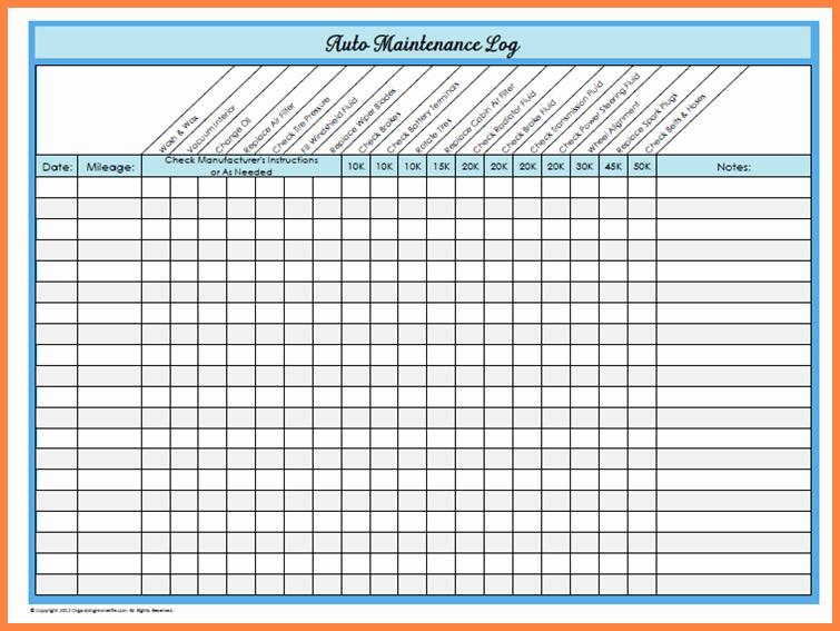 Free Vehicle Maintenance Log Pdf Fresh Basic Car Maintenance Schedule