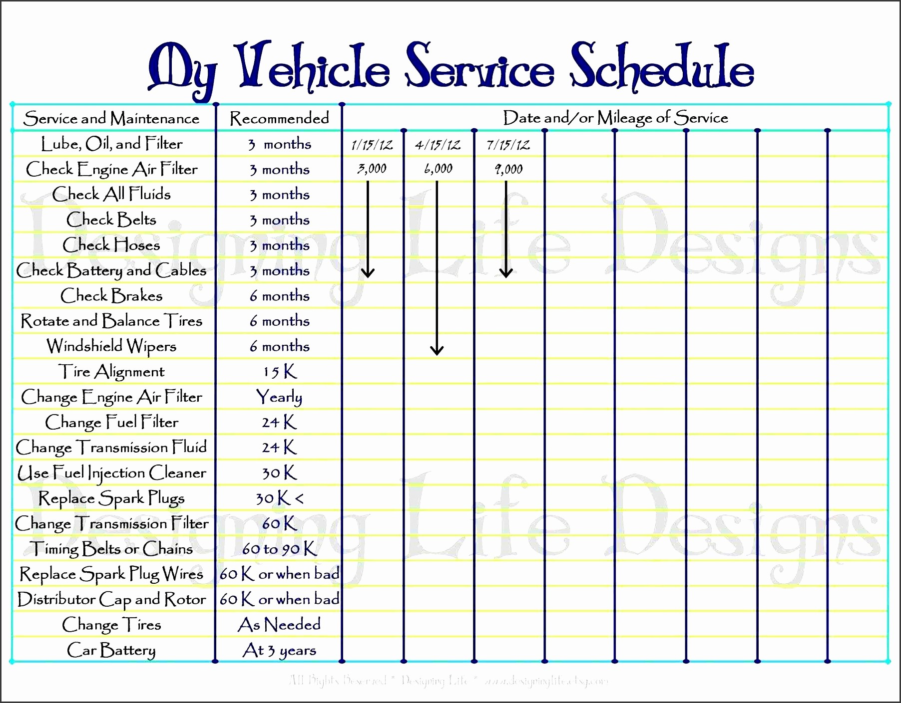 Free Vehicle Maintenance Log Pdf Lovely 6 Vehicle Mileage Log for Free Sampletemplatess
