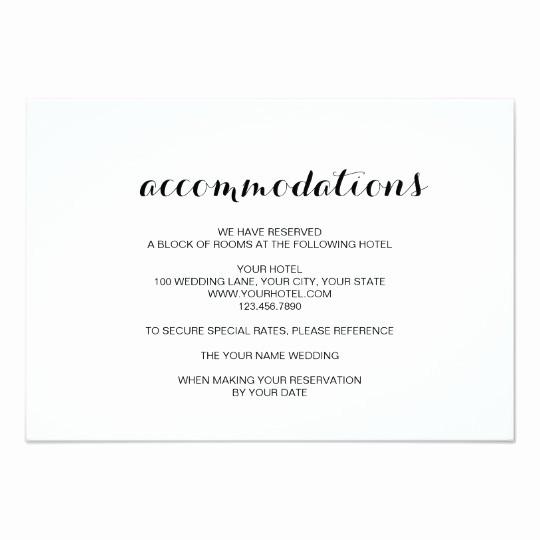Free Wedding Accommodation Card Template Awesome Simple Elegant Modern Wedding Ac Modation Card Au