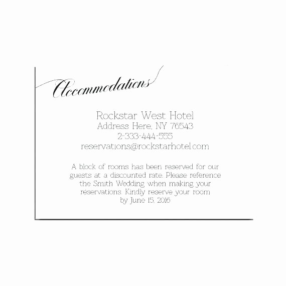 Free Wedding Accommodation Card Template Elegant Navy Wedding Information Card Template Details Hotel