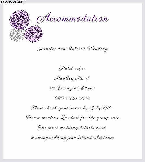 Free Wedding Accommodation Card Template Fresh 99 Ac Modation Card Template Free Free Wedding