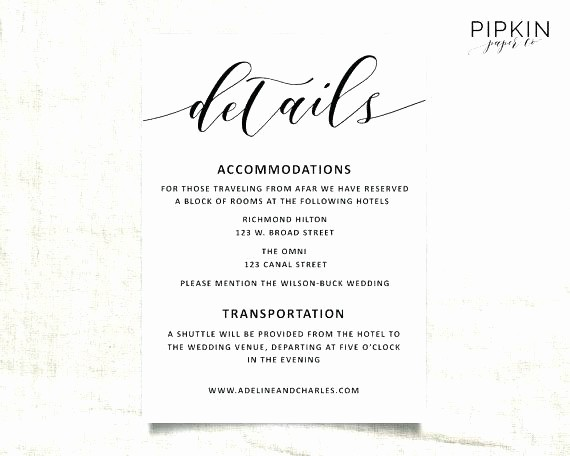Free Wedding Accommodation Card Template Fresh Info Card Template Report Free the Picture to Get