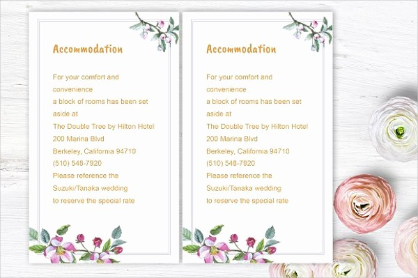 Free Wedding Accommodation Card Template Lovely Wedding Invitation Wording Ac Modation Matik for