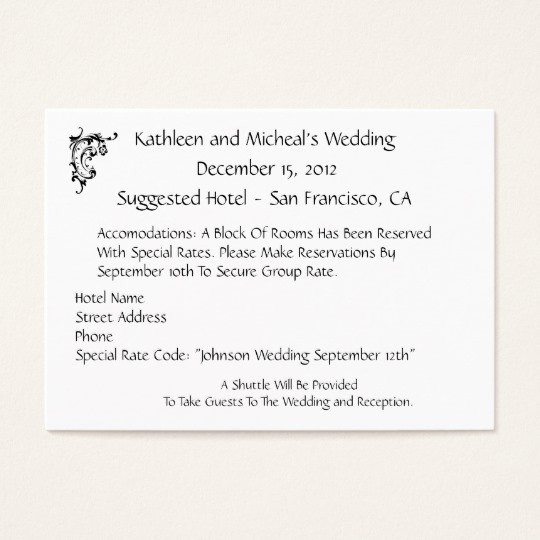 Free Wedding Accommodation Card Template Lovely Wedding Invitations Hotel Ac Modation Cards Customize