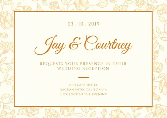 Free Wedding Accommodation Card Template New Wedding Reception Card Template Reception Invitation