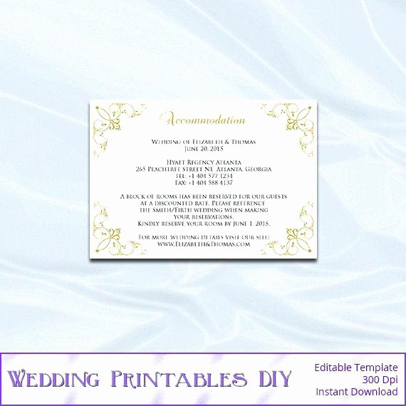 Free Wedding Accommodation Card Template Unique Wedding Ac Modation Card Template Free Blue Gray