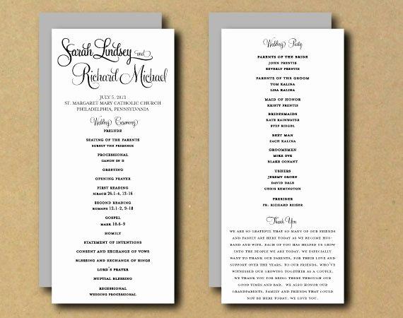 Free Wedding Ceremony Program Template Awesome Best 25 Wedding Program Templates Ideas On Pinterest
