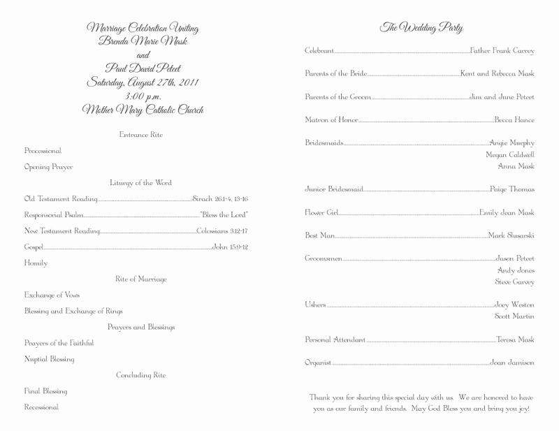 Free Wedding Ceremony Program Template Awesome Wedding Program Templates Wedding Programs Fast