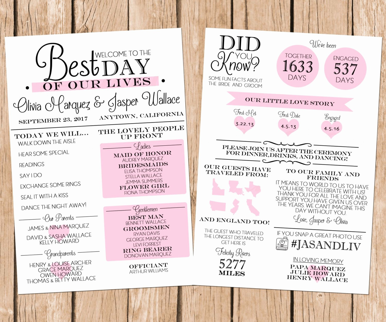 Free Wedding Ceremony Program Template Best Of Infographic Wedding Program Fun Wedding Program