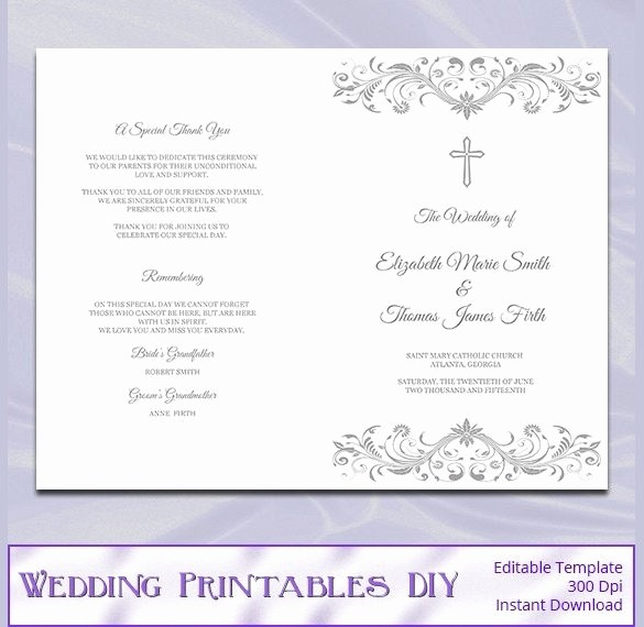 Free Wedding Ceremony Program Template Elegant Catholic Wedding Program Template Free Beepmunk