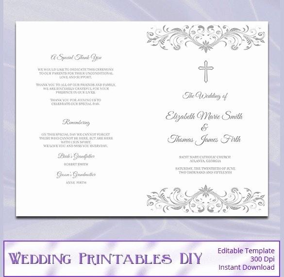 Free Wedding Ceremony Program Template Elegant Catholic Wedding Program Template Free Beepmunk